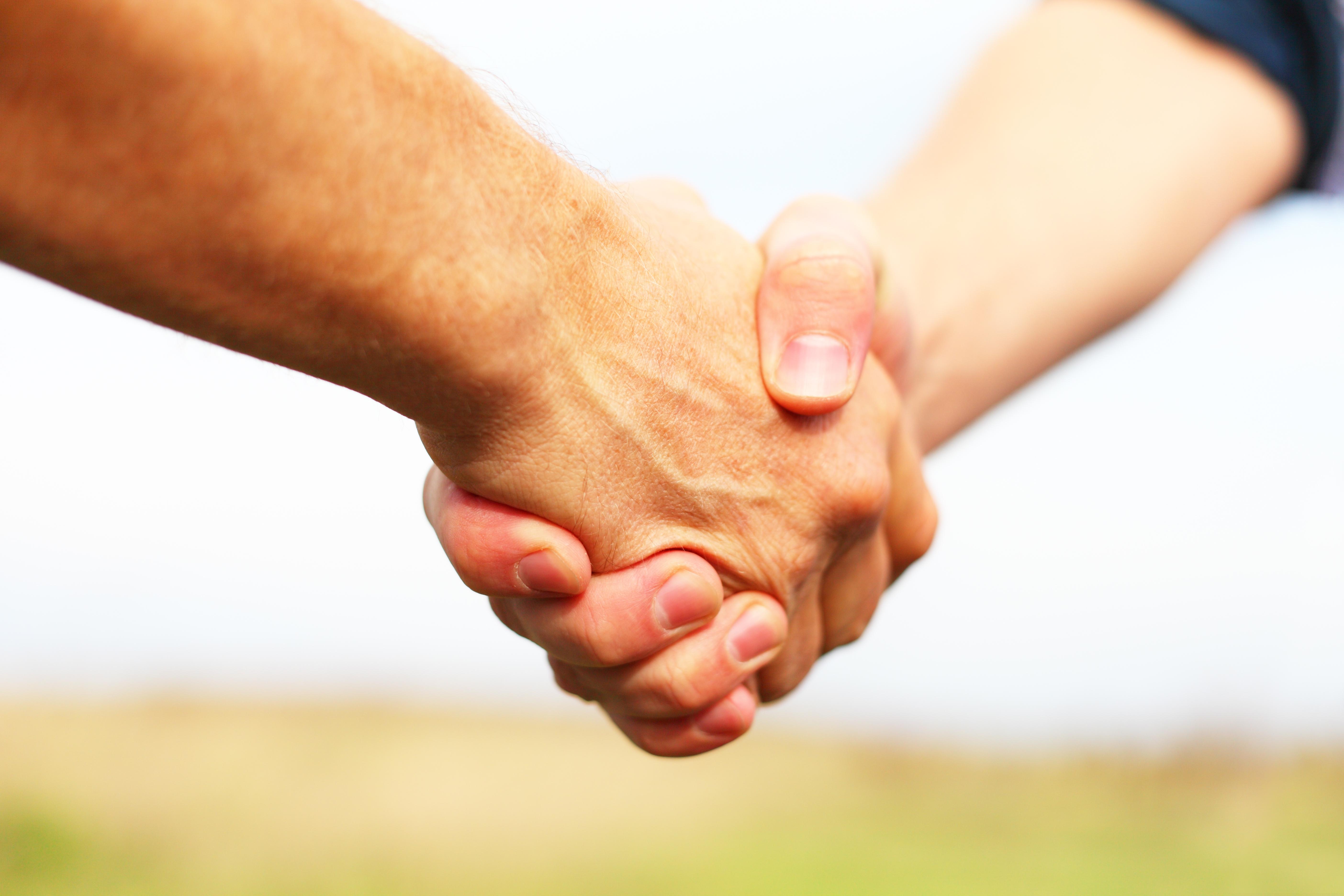 Handen schudden