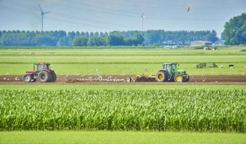 Landwerkzaamheden met trekker