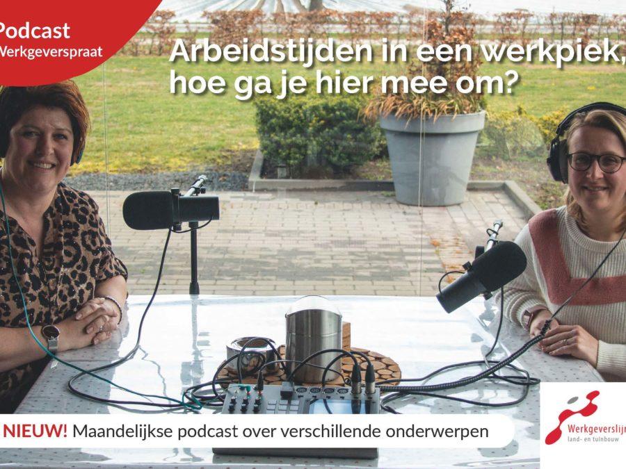 podcast arbeidsduur in een werkpiek